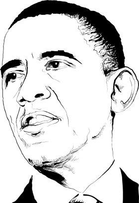 Mister Merchandise Tasche Barack Obama Stofftasche , Farbe: Schwarz Schwarz