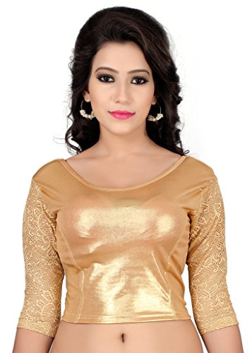 Fressia Readymade Gold Stretchable Saree Blouses