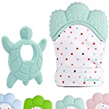 Liname? Deluxe Teething Set Includes Teething Mitten for Babies & Teething Toy  Safe (BPA Free), Washable & Durable Teething Mitt