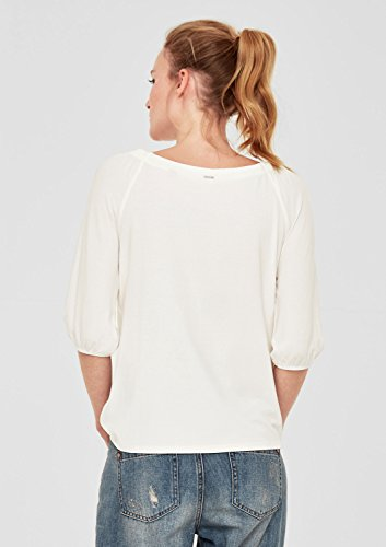 s.Oliver Damen T-Shirt Elfenbein (Creme 0210)