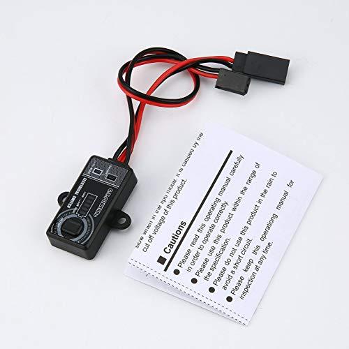 Elviray 14A / 5V-10V Fernbedienung Elektronischer Schalter RC Teile mit LCD Display für RC UAV Quadcopter Auto Drone Modell