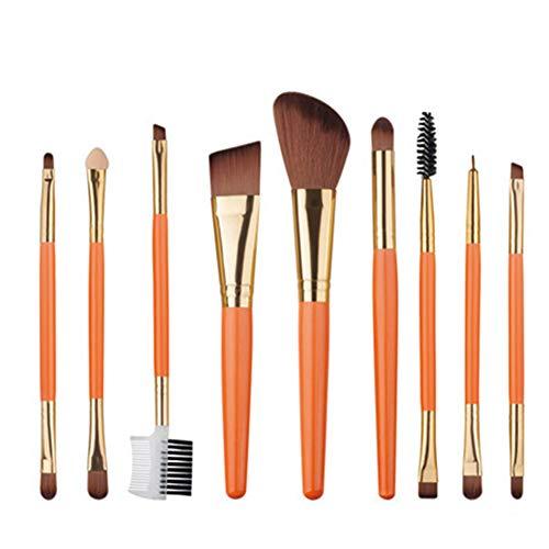 Gespout Pinceaux Maquillage Kit de 9pcs Brosse de Maquillage Professionnel Fondation Concealer Eye Shadow Beauté Outils 16 * 7 * 1.5cm