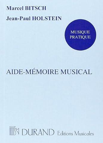 Aide-mémoire musical - Livre