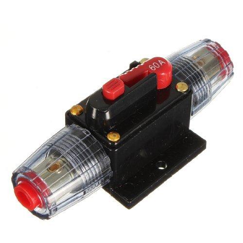 Water & Wood 12V DC Auto Audio Inline Circuit Breaker Sicherung für System Schutz 60A 60AMP