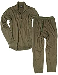 Mil-Tec BW–Larga Térmica Ropa Interior Gen III 11220001P–Polar para hombre y mujer invierno verde oliva LTWT S de 3x l