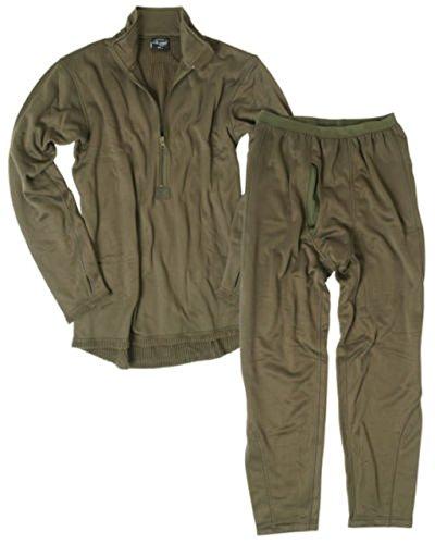 Mil-Tec BW Lange Thermo Unterwäsche Gen III Thermofleece Unterhemd und Unterhose Winter Thermounterwäsche Oliv S-3XL (L) - Militär-thermo-unterwäsche