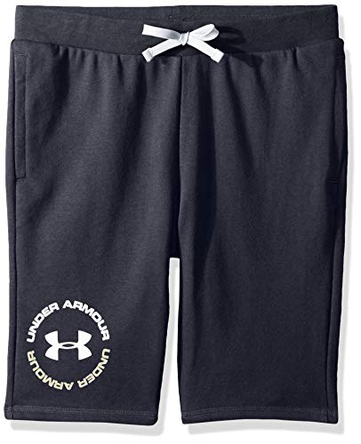 Under Armour Jungen Rival Terry Shorts, Black (001)/Silt Brown, Jugend Small -