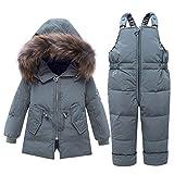 LPATTERN Enfant Combinaison de Ski/Neige Bébé Fille Garçon Doudoune+Pantalon de...