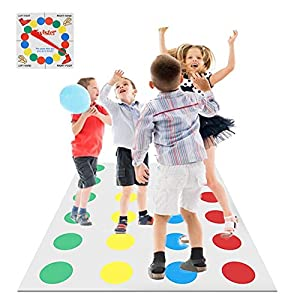 biteatey Juego De Piso Familiar Juego Twister Juguetes Tapete Juegos De Mesa Grande Divertidos Juegos De Habilidad para Niños Y Adultos, Juego De Piso Familiar Tapete De Juego Elegant
