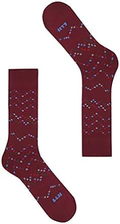 Calze Ileana s.p.a. - 1177 Pixels Blocks, Calzini Uomo, Viola (Port), 45/46 (Taglia produttore:XL-45/47)