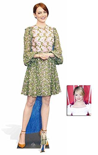 Fan Pack - Emma Stone Celebrity Cardboard Cutout Lebensgrosse und klein Pappfiguren / Stehplatzinhaber / Aufsteller - Enthält 8X10 (25X20Cm) starfoto