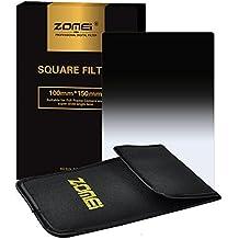 ZOMEi 100x150mm ND16 Z-PRO Serie Filtro Cuadrado Gradual Filtro de Densidad Neutra Gray Compatibles con el Sostenedor de Cokin Z Lee Hitech '4X6'