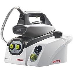 Imetec Iron Max Eco Professional 2700 Ferro da Stiro con Caldaia in Pressione, Piastra in Acciaio Inox, Generatore di Vapore, Manometro della Pressione