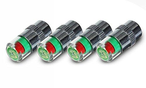 Kit 4 medidores de presión de neumáticos 2,4 bar - 36 PSI con indicador
