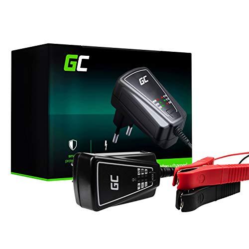 Green Cell® Vollautomatisches AGM Ladegerät (Ladespannung 6/12V 12W 1A) Batterieladegerät mit Batterietester für Motorroller Motorrad Quad Auto Lastwagen Autobatterie
