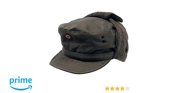 2ee12cd239a VIZ-UK WEAR Austrian Army Olive Drab Winter Pile Cap Grade 1  Amazon.co.uk   Clothing