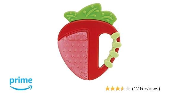 Fresh Relax gefüllt mit sterilem Was 4+ Monate Chicco Beißring Erdbeere//Apfel
