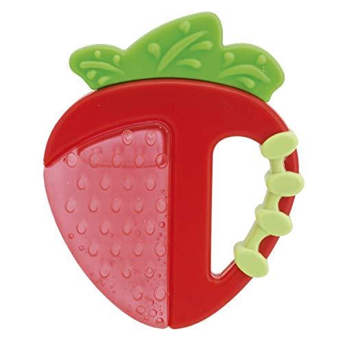 Chicco Beißring Erdbeere/Apfel, Fresh Relax, 4+ Monate, gefüllt mit sterilem Wasser, sortiert