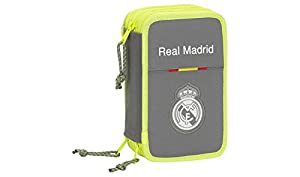 Real Madrid CF- Real Madrid FC Plumier, Color Gris, único (SAFTA 411554057)