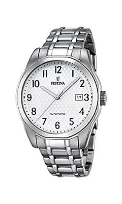 Festina Reloj Automático para Hombre, Con Esfera Analógica Pantalla y Pulsera de acero inoxidable (Plata F16884/1 de Festina
