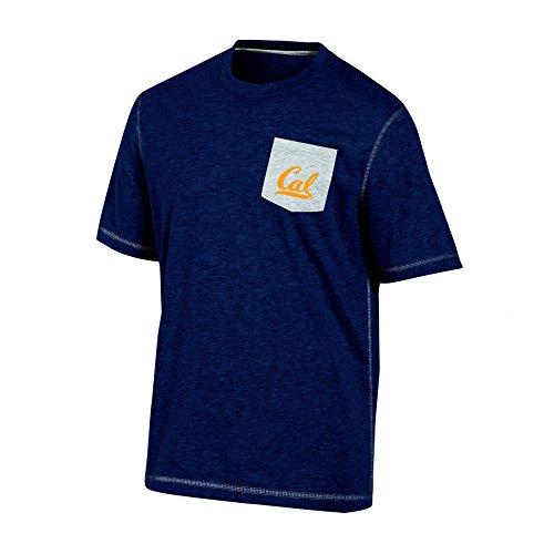 NCAA Champion Herren Stadium Party Kurzarm Pocket T-Shirt, Herren, NCAA Champion Men's Stadium Party Short Sleeve Pocket T-Shirt, Navy Heather, Medium -