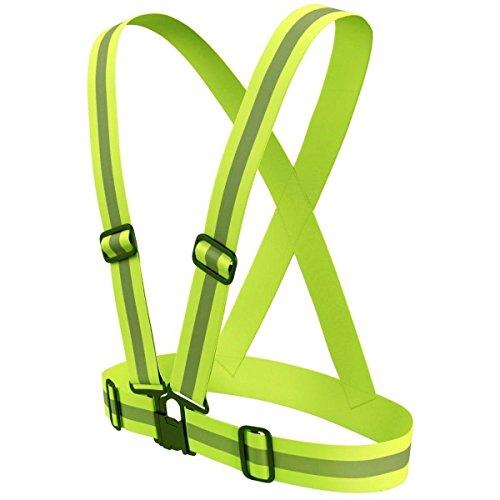 Ohuhu Ajustable Reflectante Chaleco / Chaleco de Seguridad con Alta Visibilidad para Running, Ciclismo y Paseos