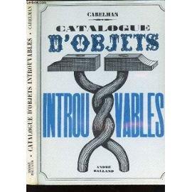 CATALOGUE D'OBJETS INTROUVABLES.