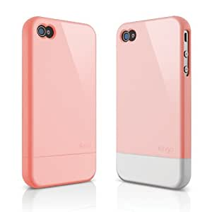 elago S4 Glide Case for AT & T,Sprint,Verizon iPhone4/4S - Glossy Lovely Pink + Extra Bottom Clip + Front Protection Film + Back Protection Film included