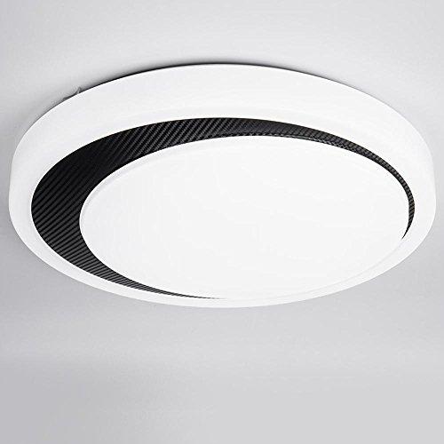 LED Modernes einfach Kreative romantische Design Deckenleuchte Acryl runde weiß und schwarz Deckenlampe Innenbeleuchtung Dekor Leuchte Deckenbeleuchtung warmes Licht Max 12W Ø35CM Farbtemperatur 3000K