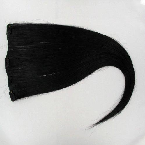 Extensions à clip cheveux noir 60 cm ref: 1b