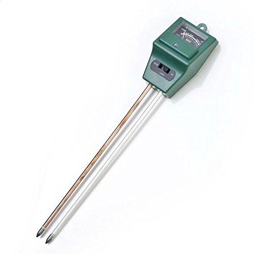 hinmay Boden Feuchtigkeit Meter,-in Licht und pH-Säure Tester für Garten, Bauernhof, Rasen Pflanzen Pflege, pflanzenbodengrund Tester Kit (kein Akku erforderlich), dunkelgrün (Test-licht-schalter)