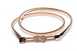 3P Retails Womens Trendy Belt Alloy Waistband Metal Belt (Gold)