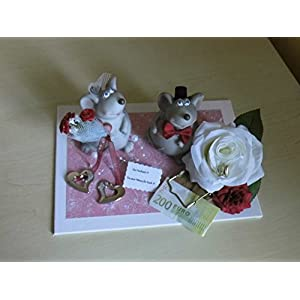 Hochzeit - Mäuse Geldgeschenk Brautpaar