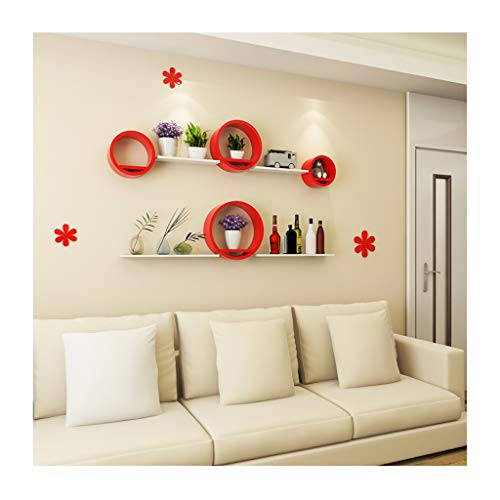 &Lagerregal Wand-Regaleinheiten Einfache moderne Fernsehhintergrund-Wand-Schindelbrett-dekoratives Gestell-Ausgangskorridor-Gang-Speicher-Regal Finishing-Rack - E1-bundle