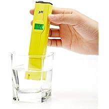 Hibote 0.1 Resoluci¨®n Alta Precisi¨®n Tama?o de Bolsillo Medidor de pH con ATC,Gama 0-14pH,Medidor Digital PH Acuario piscina tester
