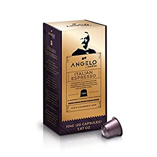 120 Nespresso Compatible Pods Italian Espresso Coffee Pods (6 x 20 Capsules) from Angelo By Charbrew
