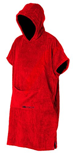 booicore V2Heavy Duty Outdoor wechselnden Poncho Bademantel/Badetuch, rot, Arm pit to arm pit length is approx. 85cm - Centre back neck to hem length is approx. 108cm Armee Pit