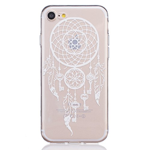 Custodia per iPhone, motivo: iPhone Case creativo colorato design Gel TPU per cellulare trasparente Soft Case Cover Custodia TPU Bumper rigida protegge da sporco e graffi per iPhone Key Campanula