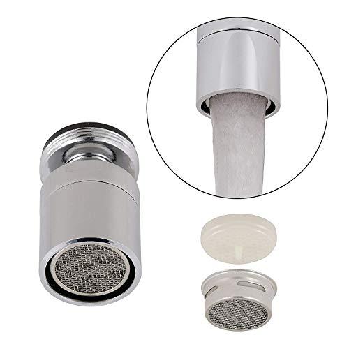 KWOKWEI Spüle Luftsprudler, Wasserhahn Luftsprudler mit 2-Funktionshandbrause, Außengewinde Wasserhahn Schwenkbrause mit 360 Grad Drehbar für Wasser Speichern Küche Bad Zubehör -