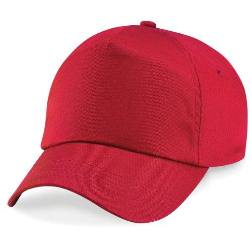 Beechfield-Original-5-Panel-Cap-verschiedene-Farben-one-sizeKlassische-rot