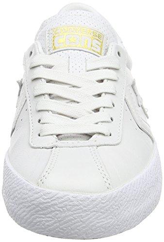 Converse Unisex-Erwachsene Breakpoint Sneakers Weiß (White/White/GoldWhite/White/Gold)