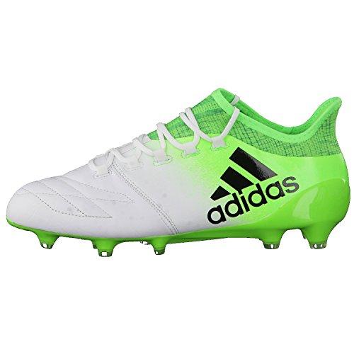 adidas X 16.1 Leather Fg, Scarpe per Allenamento Calcio Uomo Bianco (Ftwbla/Negbas/Versol)