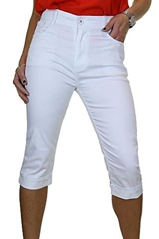 ICE Jeans Femme Capri Cropped Avec Stretch Blanc 38 à 48 (38)