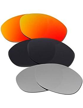Hkuco Plus Mens Replacement Lenses For Oakley Fives 2.0 Red/Black/Titanium Sunglasses
