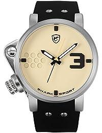 Shark SH520 Reloj Caballero Cuarzo Deportivo de Silicona Negro