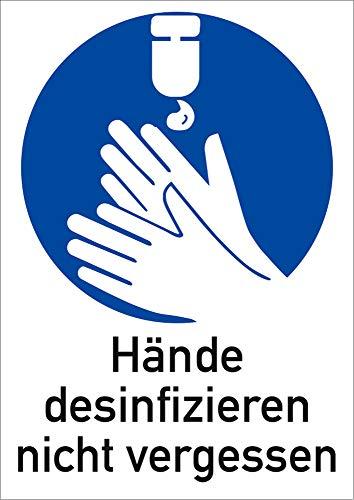 Schild Hände desinfizieren n. vergessen 297x210mm PVC