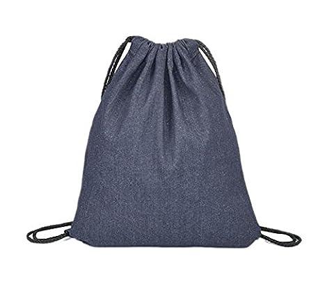 LAAT Drawstring Schulter Rucksack Beutel Sport Backpack Normallack Baumwollsegeltuch Rucksack in