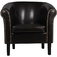 Fauteuil crapaud MONACO simili noir W287 05