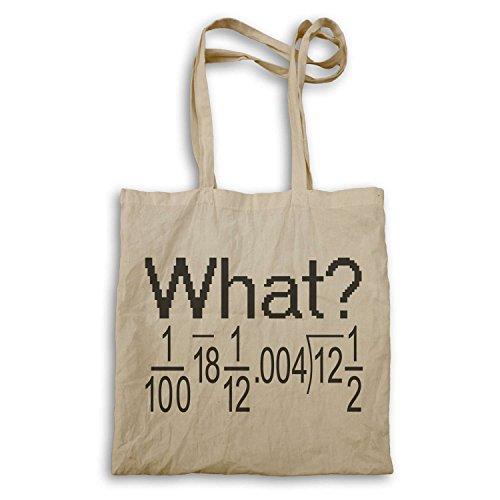 Che cosa ? Divertente la matematica sbagliato novità equazione tote bag ii62r