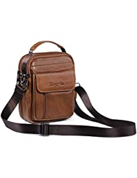 Hengying Small Leather Man Bag Mens Shoulder Bag Cross Body Messenger Bag Belt Pouch Mobile Phone Holster for Galaxy Note 5 4 3 iPhone 7 Plus